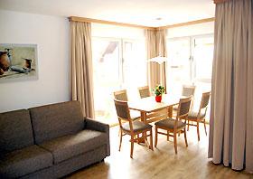Wohnraum Appartementhaus Alpenperle