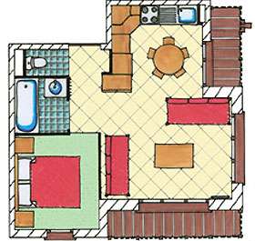 Grundriss Beispiel Appartement