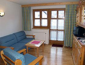 Wohnbeispiel im Appartementhaus Chasa per la Punt in Galtür