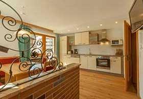Wohnküche im Haus Lydia Galtür