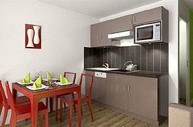 Les Menuires: Residenz Soleil Vacances - Appartement (Beispielbild)