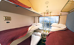 Liegewagen Schnee-Express