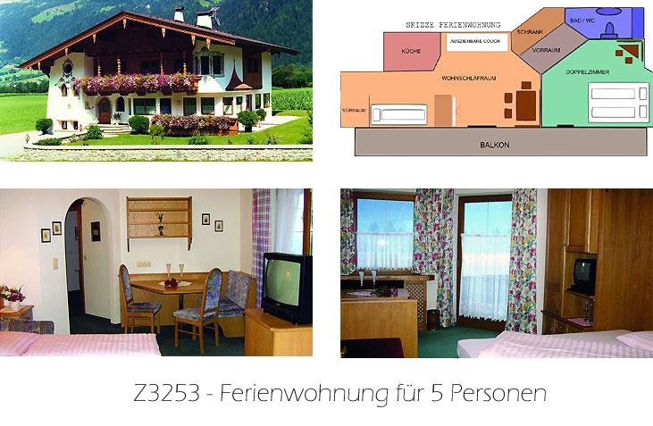 Unterkunft: Ferienwohnung Z3253
